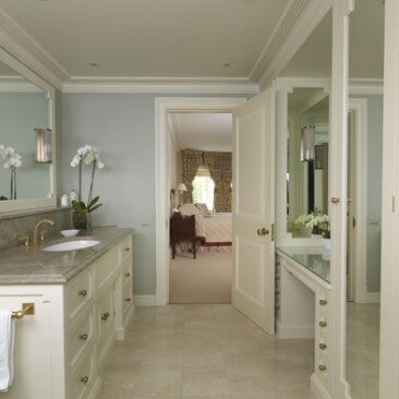 Master Bathroom a Dressing Table & Wardrobes all painted